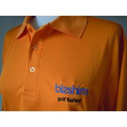 Herren Golf Polo, orange