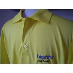 Herren Golf Polo, gelb